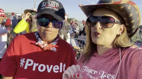 Yavapai County patriot talks about Yavapai Canvass at GA Trump Rally