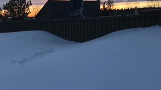 Fence Backflip Ends With Face Straight Into Snow