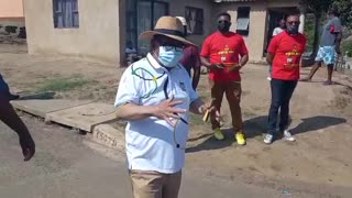Blade Nzimande on the campaign trail for the ANC