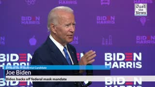 Biden backs off federal mask mandate