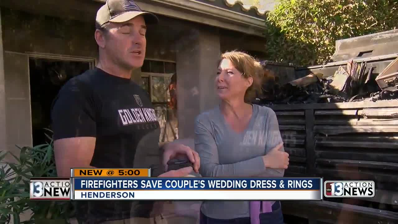 Engaged Henderson couple grateful to firefighters for helping save wedding plans