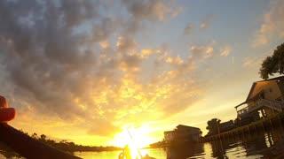 Gorgeous sunset in Bayou Vista