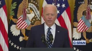 WATCH: Joe Biden's Brain Stops Working Mid Press Conference