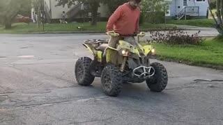 Rider Fails at Reverse Wheelie