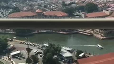 Birdseye view of historical Malacca