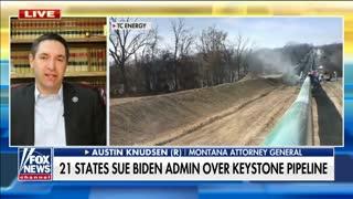 21 States Sue Biden Admin Over Keystone Pipeline Cancellation