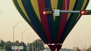 Hot Air Balloon Stops Traffic With Unscheduled Landing