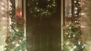 Front Door Christmas Welcome