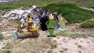 Walking through Somiedo Natur Park Asturias Spain.