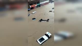 Horrific flooding in Zhengzhou China