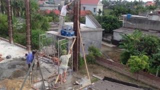 House Construction - How to Form and Pour a Concrete Column