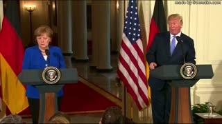 Trump and German Chancelor Angela Merkel Press conference