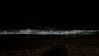 Beach at night beautiful Relaxing music