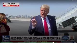 President Trump speaks to Criminal.