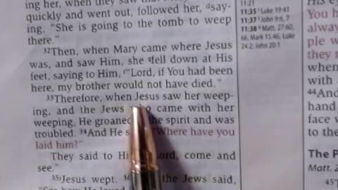 Jesus & Death, the last enemy - John 11:28-37 NKJV - 7-21-2021