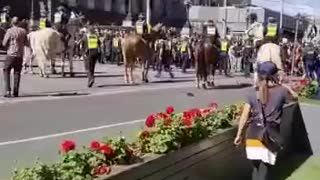 THE PEOPLE OF MELBOURNE BREAK POLICE LINES!