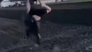 Person Falls On Their Head While Attempting a Backflip