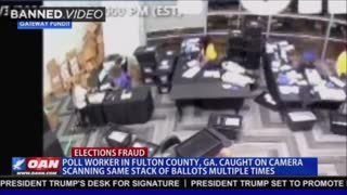 CAUGHT Surveillance Footage Shows Georgia Poll Worker Scanning Same Batch Of Ballots MULTIPLE TIMES!