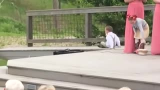Kids add some comedy to a wedding! - Ring Bearer Fails.01