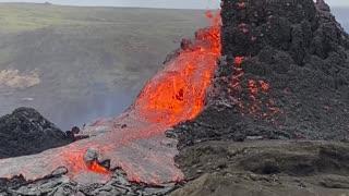 Volcanic Eruption in Geldingadalur Iceland