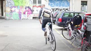 People ride bike To Work