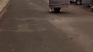 Moving a Couch Using a Scooter