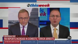 Mick Mulvaney pushes back on leftists blaming Trump for mass shootings
