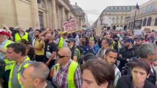 Protests after France's Constitutional Court upheld Covid pass and mandatory vaccinations..!!!