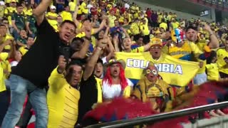 Juego entre Colombia y Brasil en Bucaramanga