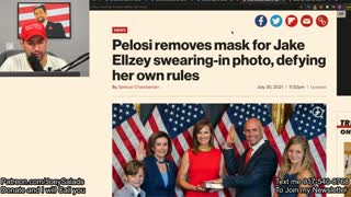 Pelosi DEFYS Her own Mask Rules!