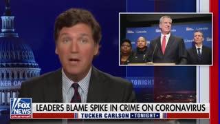 Tucker Carlson Blasts Politicians Who Blame Rising Crime On COVID