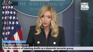 Kayleigh McEnany is asked about labeling Antifa as domestic terrorists