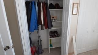 Closetmaid bedroom closet organized