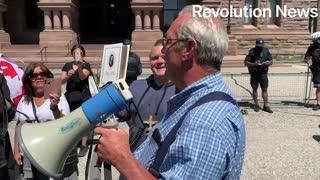 Protest against extending bill 195