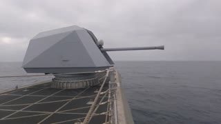 Combat Ship Live Fire with 57MM Naval Gun System