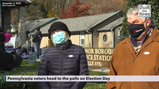 Voters head to the polls on Election Day in PA