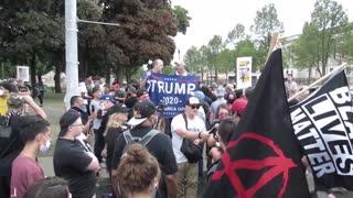 Protestas en Kenosha por visita de Trump