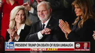 WATCH: Trump Responds to Death of Rush Limbaugh On Live TV