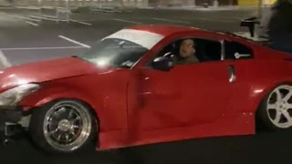 Man Holds on but Wing Doesn't During Drift