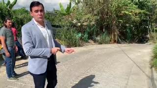 Daño vía Floridablanca por obras de la Conectante C1-C2