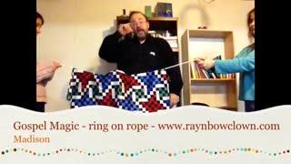 Gospel Magic - ring on rope