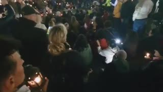 Torch Light Procession In Milan, Italy Against Govt Compulsory Health Pass To Work