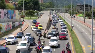 Avanza nueva marcha entre Piedecuesta y Bucaramanga