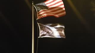 American flag, with my Bethlehem flag
