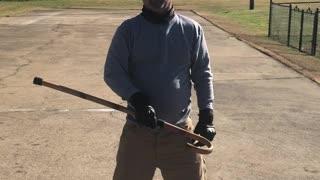 Cane blacks and strike drill