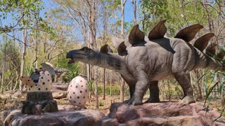 Udonthani dinosaurs park moving and with sound effects