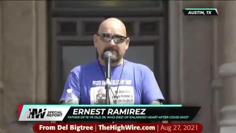 """""""My Son Died From Vaccine"""" -Ernest Ramirez"""