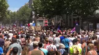 Marseille, France Massive Protests Against Vaccine Passports, Vaccine Mandates for Workers 7-17-21