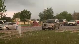 Storm Drops Huge Hail Stones