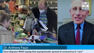 """Dr. Anthony Fauci disputes WHO saying that asymptomatic spread of coronavirus is """"rare"""""""